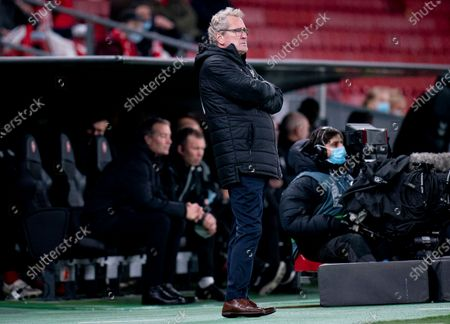 Stock Photo of Icelands swedish coach Erik Hamren during the UEFA Nations League - League A - Group 2 Match between Denmark and Iceland, in Copenhagen, Denmark, 15 November 2020.