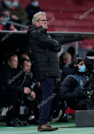 Icelands coach Erik Hamren during the UEFA Nations League - League A - Group 2 Match between Denmark and Iceland, in Copenhagen, Denmark, 15 November 2020.