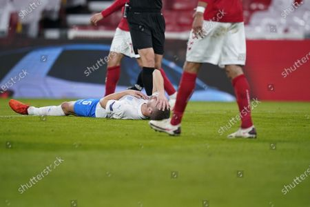 Stock Photo of Iceland's Sverrir Ingi Ingason during the UEFA Nations League - League A - Group 2 Match between Denmark and Iceland, in Copenhagen, Denmark, 15 November 2020.