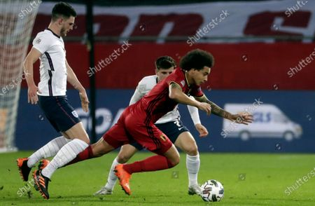 Axel Witsel of Belgium (R) in action during the UEFA Nations League soccer match between Belgium and England in Leuven, Belgium, 15 November 2020.