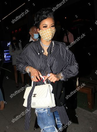 Keyshia Cole is seen leaving BOA Steakhouse in West Hollywood