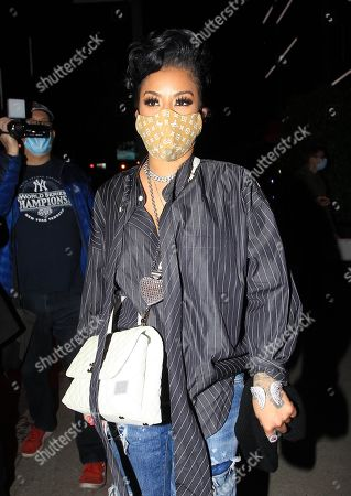 Editorial photo of Keyshia Cole out and about, Los Angeles, California, USA - 14 Nov 2020