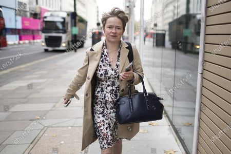 Head of the NHS Test and Trace programme Baroness Dido Harding arrives at The Department for Health and Social Care.