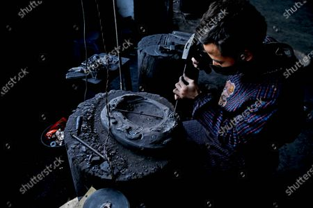 Editorial picture of A 23-year-old man from Guizhou province has inherited the skills of Four thousand years of Sizhou Shiyan, Qiandongnan, China - 14 Nov 2020