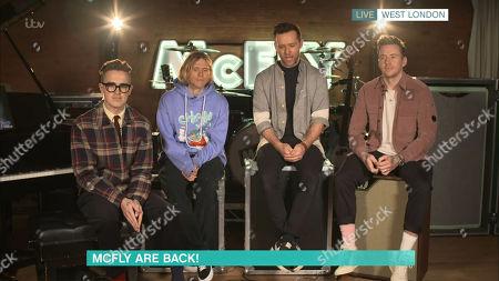Stock Image of Mcfly - Dougie Poynter, Harry Judd, Tom Fletcher, Danny Jones