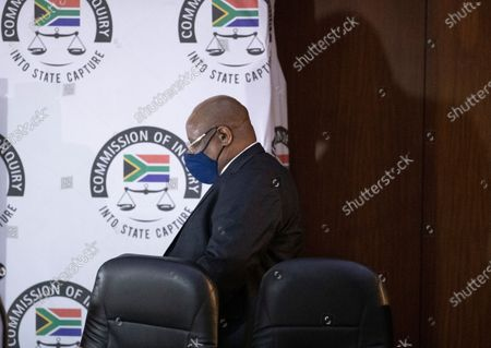 Deputy Chief Justice Raymond Zondo, takes arrives for the hearing an application by Jacob Zuma's lawyers for his recusal from the state capture commission of inquiry in Johannesburg, South Africa