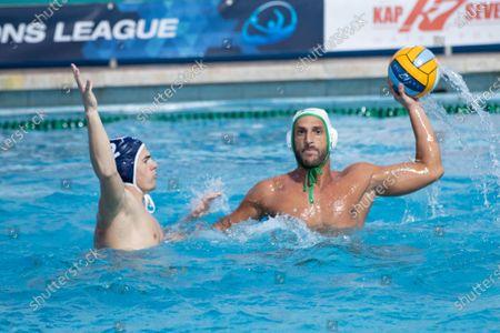 Valentino Gallo (Ortigia) during CC Ortigia vs VK Primorac, Waterpolo LEN Cup