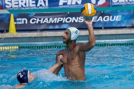 Stock Picture of Valentino Gallo (Ortigia) during CC Ortigia vs VK Primorac, Waterpolo LEN Cup