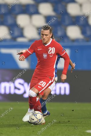 "Piotr Zielinski (Poland)                       during the UEFA ""Nations League 2020-2021"" match between Italy 2-0 Poland   at Mapei Stadium  on November 15 , 2020 in Reggio Emilia, Italy."