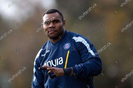 Semesa Rokoduguni of Bath Rugby looks on