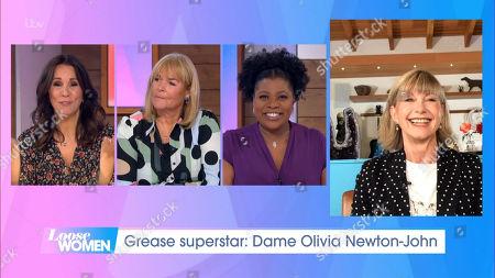 Stock Photo of Andrea McLean, Linda Robson, Brenda Edwards and Dame Olivia Newton-John