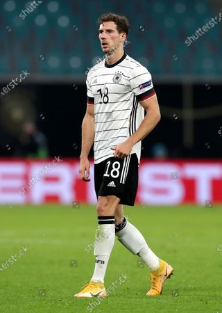 Germany's Leon Goretzka during a UEFA Nations League soccer match between Germany and Ukraine in Leipzig, Germany