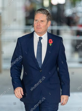 Keir Starmer arriving at Broadcasting House