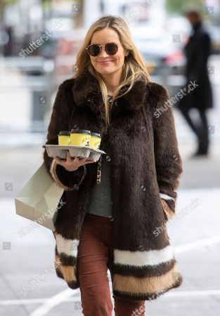 Laura Whitmore arriving at Broadcasting House
