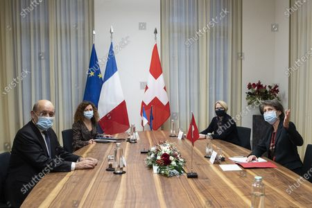 Editorial picture of French Foreign Minister Drian visits Switzerland, Bern - 16 Nov 2020