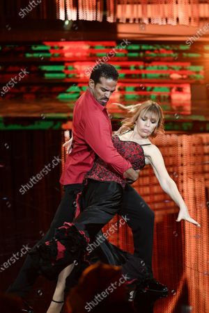 Stock Photo of Mykael Fonts and Alessandra Mussolini during the performance
