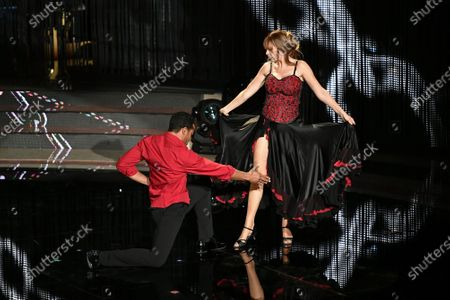 Stock Image of Mykael Fonts and Alessandra Mussolini during the performance