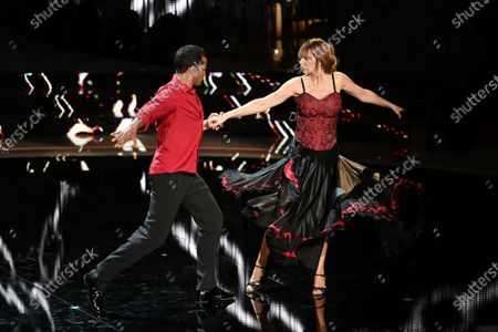 Stock Picture of Mykael Fonts and Alessandra Mussolini during the performance