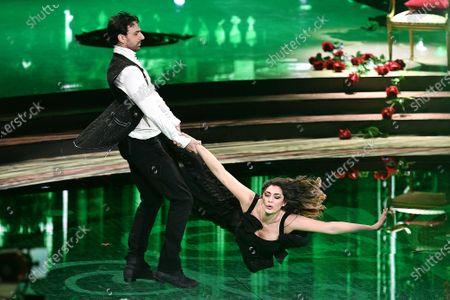 Raimondo Todaro and Elisa Isoardi during the performance