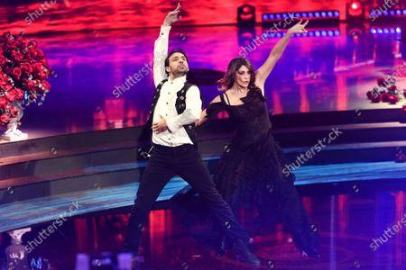 Stock Picture of Raimondo Todaro and Elisa Isoardi during the performance