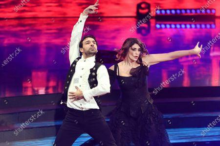 Stock Photo of Raimondo Todaro and Elisa Isoardi during the performance