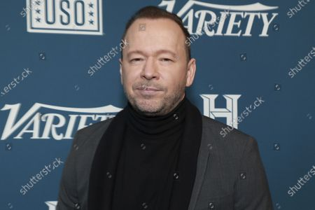 "Donnie Wahlberg attends Variety's third annual ""Salute to Service"" celebration at Cipriani 25 Broadway in New York. On Nov. 7, 2020, Wahlberg left a $2,020 tip on a $35.27 lunchtime bill at a restaurant in Plymouth, Mass"