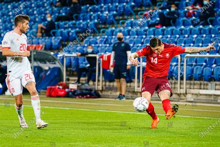 Editorial image of Switzerland v Spain, UEFA Nations League, Football, St Jakob-Park, Basel, Switzerland - 14 Nov 2020