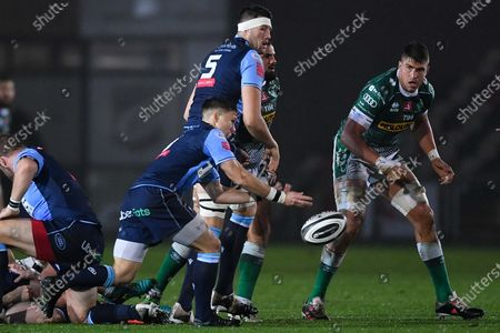 Cardiff Blues vs Benetton Rugby. Jamie Hill of Cardiff Blues