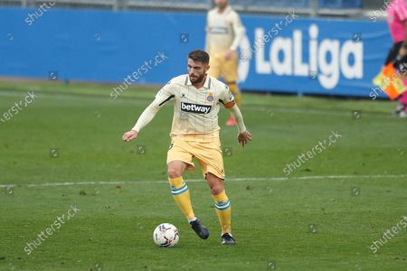 "Stock Picture of David Lopez (Espanyol) - Football / Soccer : Spanish ""La Liga SmartBank"" match between CF Fuenlabrada 1-1 RCD Espanyol de Barcelona at the Estadio Fernando Torres in Fuenlabrada, Spain."