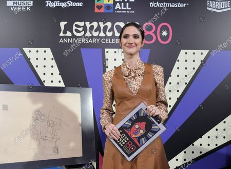 At Fabrique Milano Music Week, curated by Luca de Gennaro, an evening dedicated to John Lennon LENNON80 with various artists playing and singing some of his songs. In the photo: Lodovica Comello