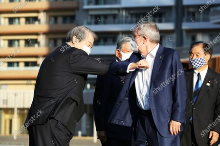 Editorial image of IOC President Thomas Bach visits the Olympic Village in Tokyo, Tokyo, Japan - 17 Nov 2020