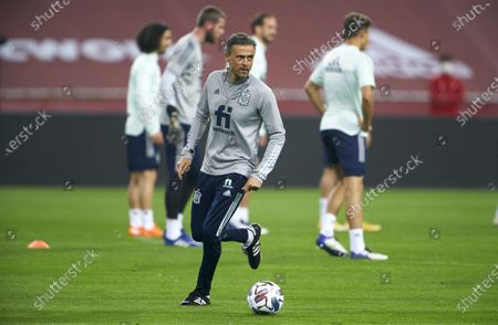 Editorial photo of Spain training session, Estadio de La Cartuja, Seville, Spain - 16 Nov 2020
