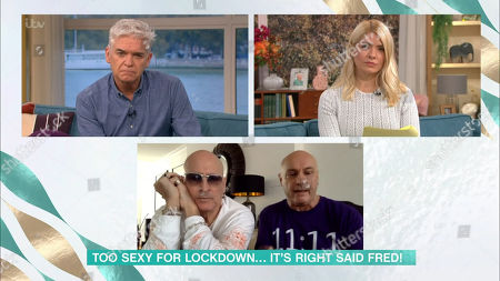 Phillip Schofield, Holly Willoughby, Richard and Fred Fairbrass