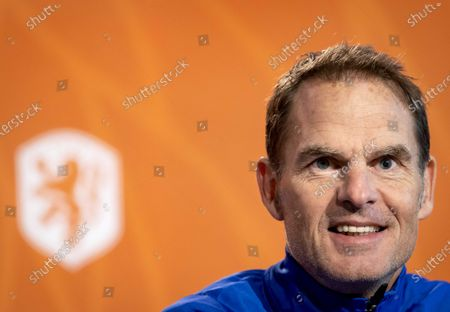 National coach Frank de Boer of the Dutch national team during a press conference in Zeist, The Netherlands, 17 November 2020 before the Nations League match against Poland.