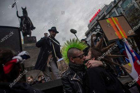 Editorial photo of Protest against coronavirus restrictions on the 31st anniversary of the Velvet Revolution in Prague, Czech Republic - 17 Nov 2020