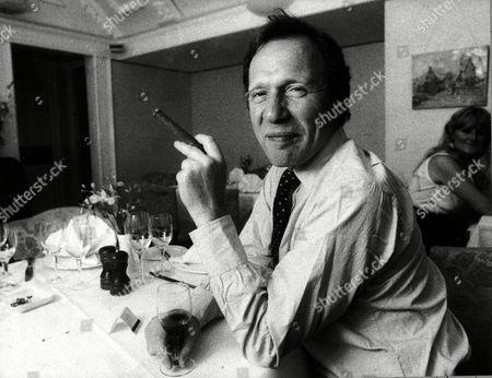 Writer Anthony Haden-guest Smoking A Cigar.