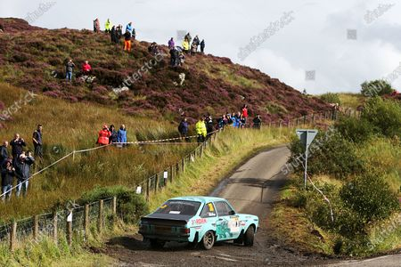 2017 British Rally Championship, Ulster Rally, Londonderry. 18th - 19th August 2017. Michael Dunlop / Rob Fagg Ford Escort. World Copyright: JEP/LAT Images.