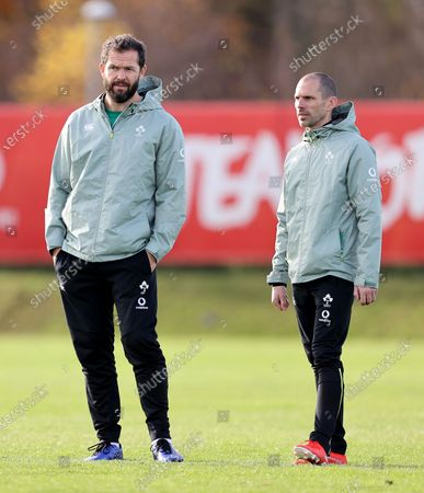 Head coach Andy Farrell and strength and conditioning coach Jason Cowman