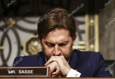 Stock Picture of US Senator Ben Sasse (R-NE) listens during a Senate Judiciary Committee hearing titled, 'Breaking the News: Censorship, Suppression, and the 2020 Election' on Facebook and Twitter's content moderation practices, on Capitol Hill in Washington, DC, USA, 17 November 2020.