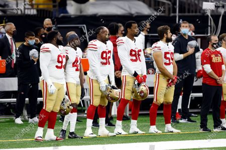 Editorial image of 49ers Saints Football, New Orleans, United States - 15 Nov 2020