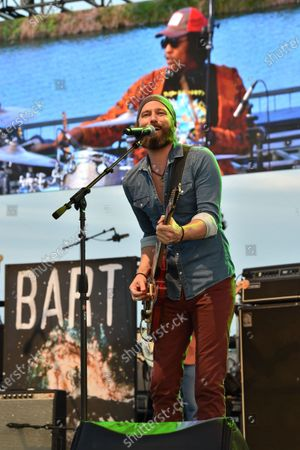 Stock Photo of Casey James performs in concert during the River and Blues Festival