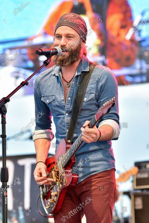 Stock Image of Casey James performs in concert during the River and Blues Festival