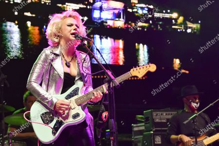 Samantha Fish performs in concert during the River and Blues Festival