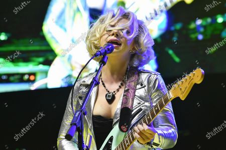 Stock Image of Samantha Fish performs in concert during the River and Blues Festival