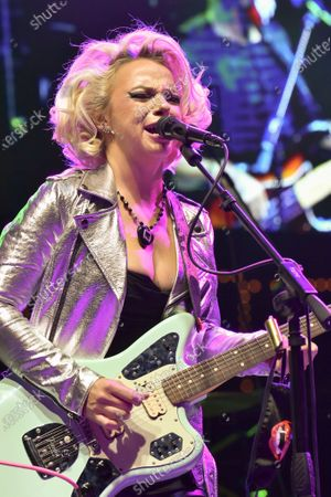 Stock Picture of Samantha Fish performs in concert during the River and Blues Festival