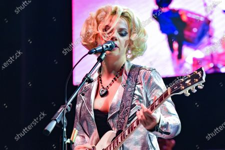 Stock Photo of Samantha Fish performs in concert during the River and Blues Festival