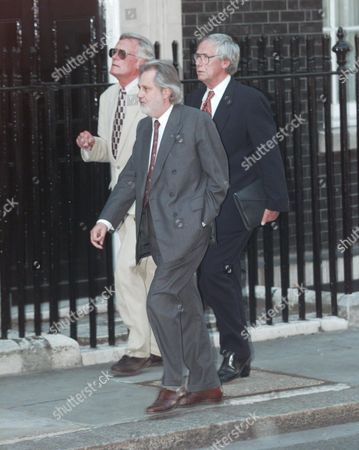 Party At No 11 Downing Street Hosted By Gordon Brown Director Baron Puttnam Of Queensgate (life Peerage) (david Puttnam) Nearest Camera Arriving.