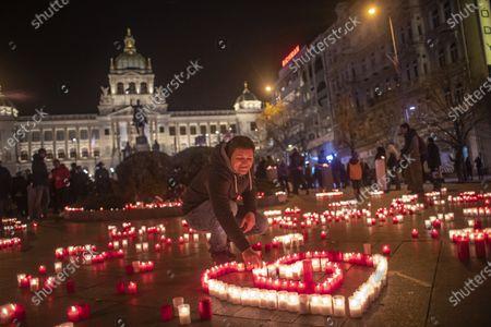 Editorial image of Marking the 31st anniversary of the Velvet Revolution in Prague, Czech Republic - 17 Nov 2020