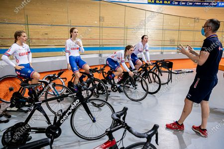 Editorial picture of Paul Manning British Cycling Coach. Plovdiv, Bulgaria - 12 Nov 2020