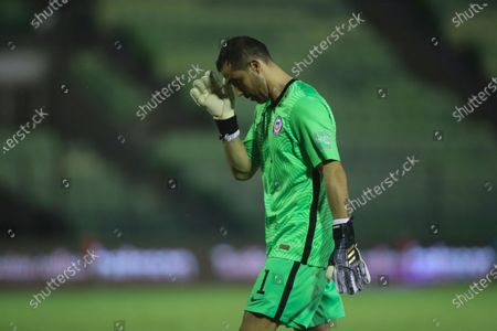 Chile's goalkeeper Claudio Bravo leaves the field after loosing 1-2 against Venezuela during a qualifying soccer match for the FIFA World Cup Qatar 2022 in Caracas, Venezuela